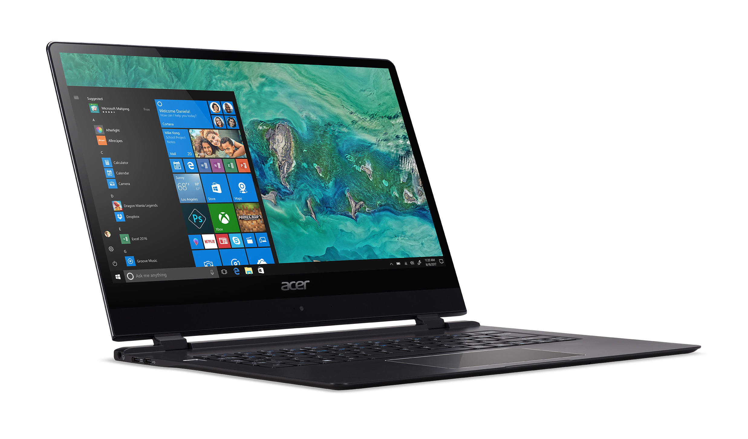 acer laptop swift 7 news ces 2018 sf714 51t right facing