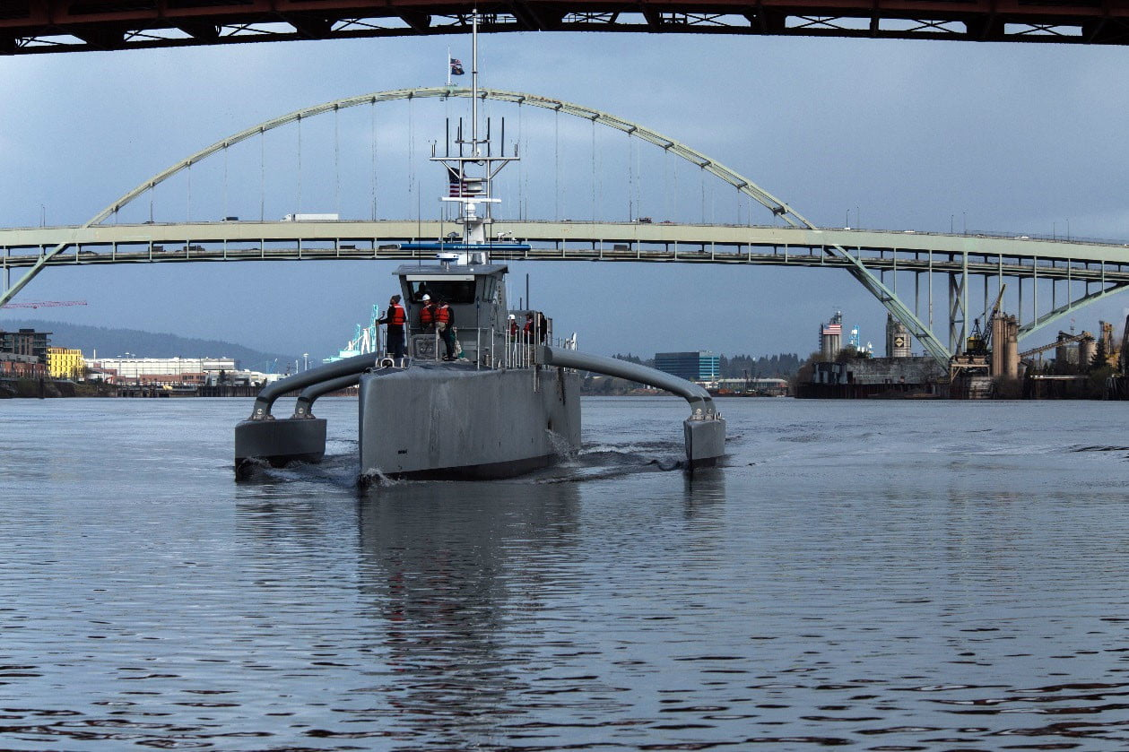 darpa officially christens the actuv in portland dry run bridge