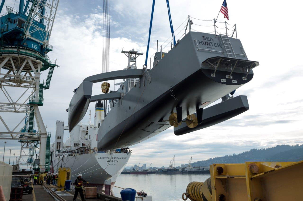 darpa officially christens the actuv in portland launch 2