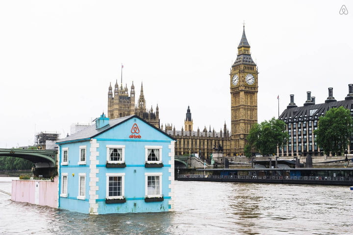 airbnb raffles off a stay in an adorable floating houseboat on the river thames