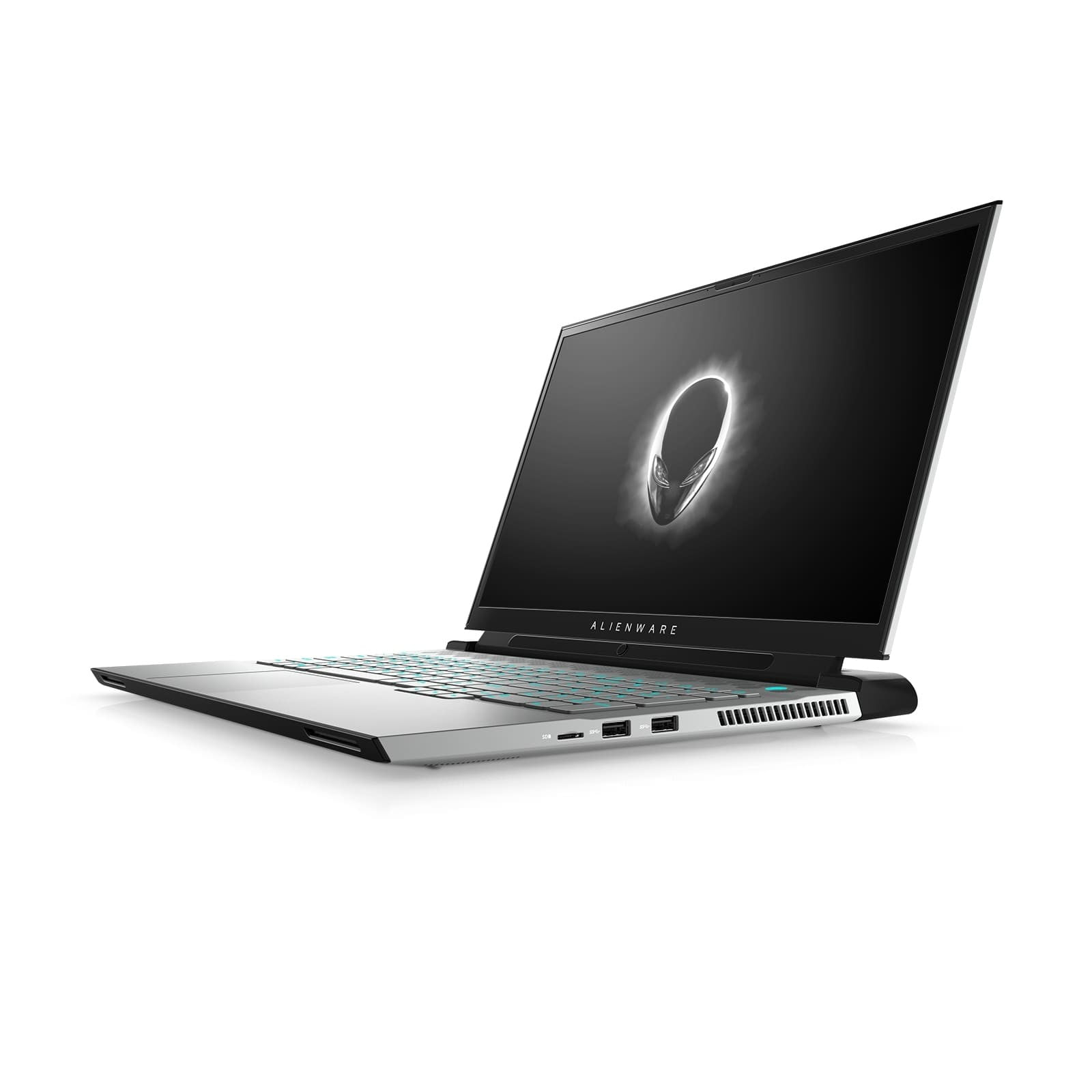 alienware m17 r4 and m15 ces 2020 white with tobii faced left