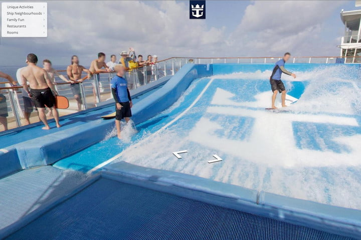 google street view maps worlds largest cruise ship allure of the seas 2