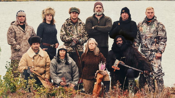 The cast of Alone.