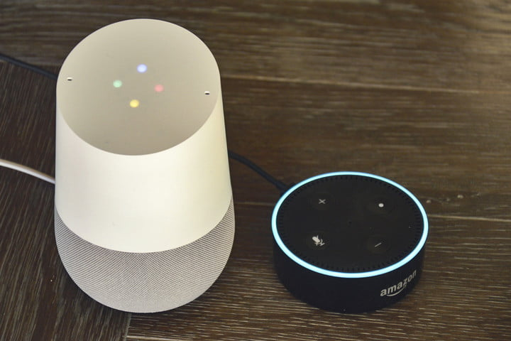 amazons alexa and google home answer the same questions amazon dot