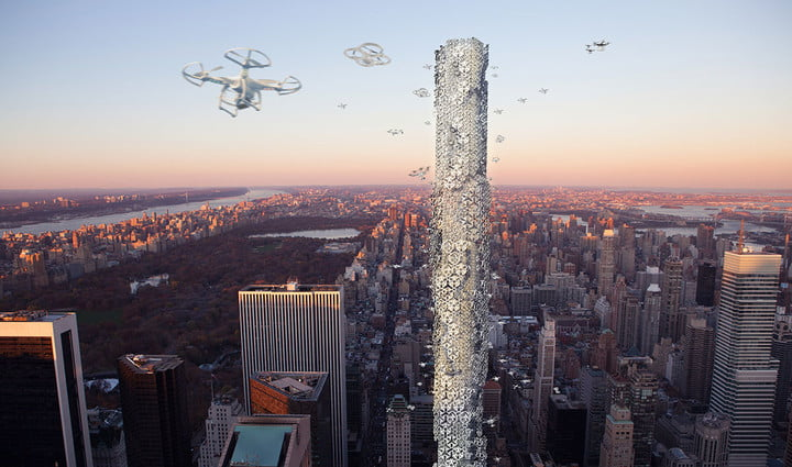 amazon drone tower patent concept image