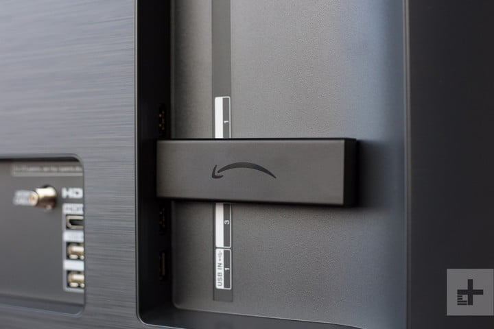 The Fire TV Stick 4K connected to a TV.