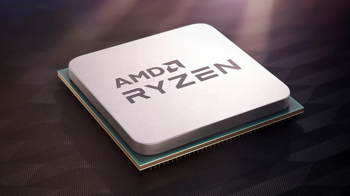 AMD Ryzen Processor placed over a black background.