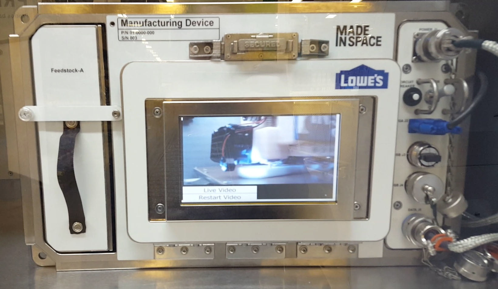 3d printed tools in space iss amf lowes display still002