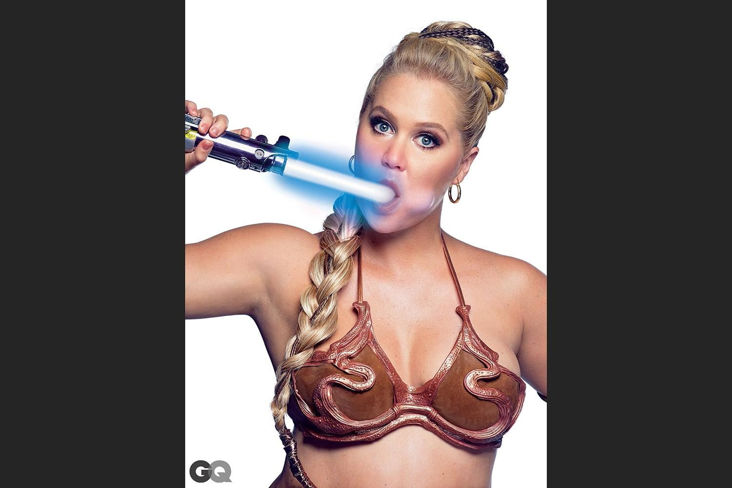 amy schumer risque star wars photo shoot gq is the funniest woman in galaxy  mark seliger 01
