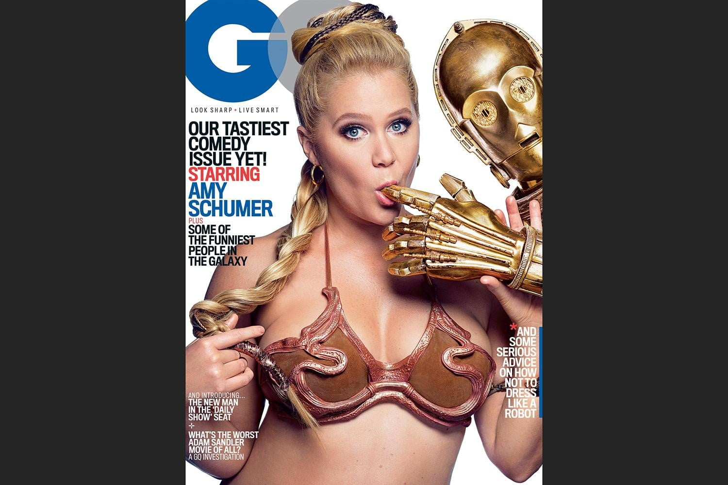 amy schumer risque star wars photo shoot gq is the funniest woman in galaxy  mark seliger cover