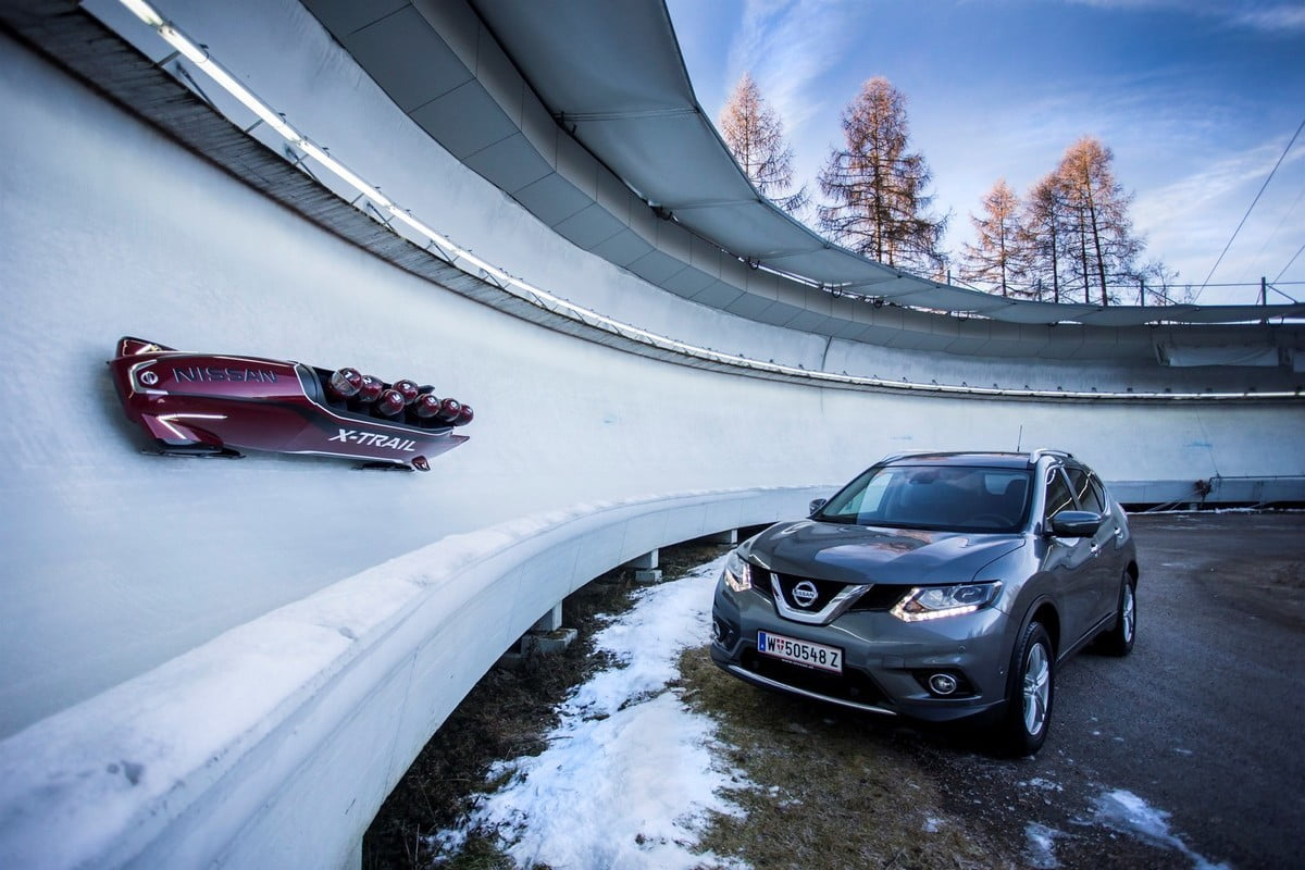 nissan x trail bobsleigh worlds first seven seat bobsled andrewh00