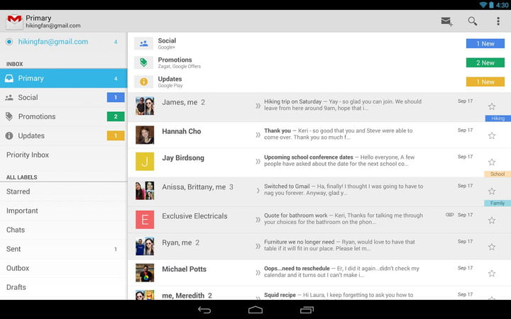 gmail android app one billion downloads