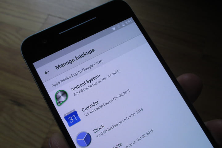 android marshmallow auto backup apps manage backups