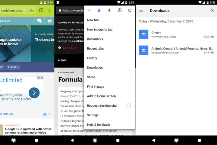 chrome android download pages androiddownload