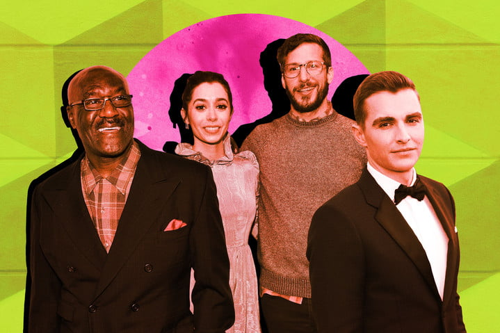 andy samberg, cristin milioti, dave franco and delroy lindo image composite