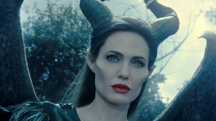 Angelina Jolie in the film Maleficent.