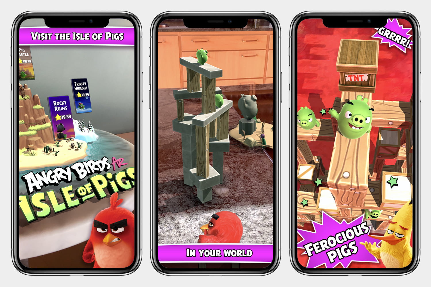 angry birds ar isle of pigs brings 3d demolition into your living room store screens