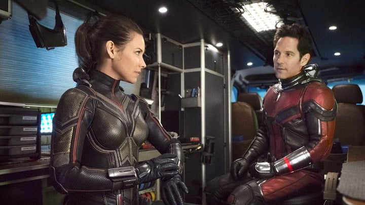 Evangeline Lilly and Paul Rudd in Ant-Man and the Wasp.