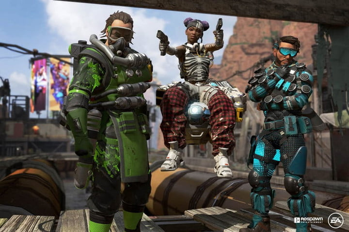 Apex Legends characters posing.