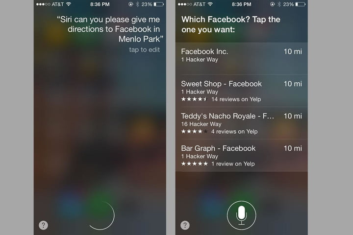 apple maps ask siri for directions