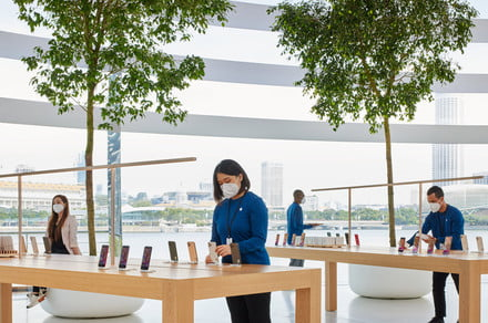 Apple Store looks set to retain mask mandate for now