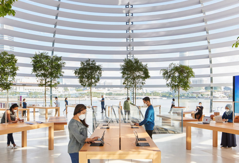check out the stunning design of apples newest retail store apple  singapore 3