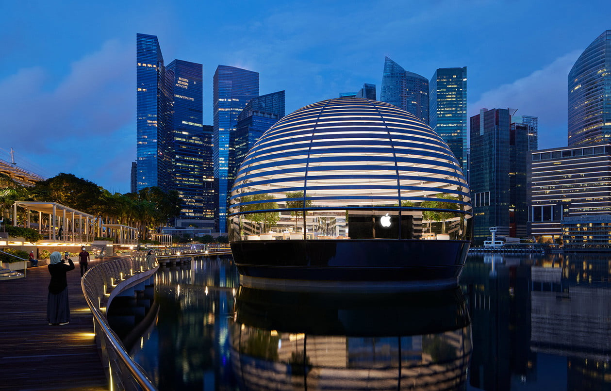 check out the stunning design of apples newest retail store apple  singapore 6