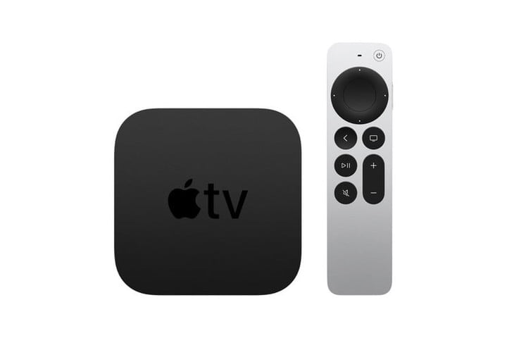 The Apple TV 4K (2021) with the Siri remote.