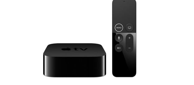 The Apple TV 4K with its remote.