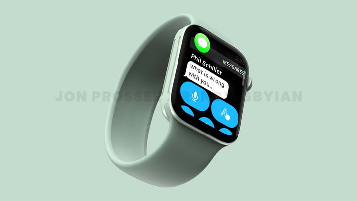 An alleged render of the Apple Watch Series 7.