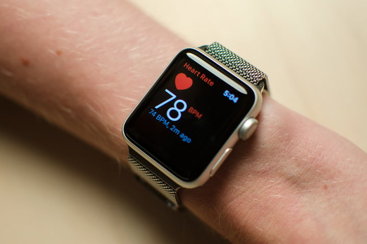 Apple Watch Series 2's heart-rate monitor.