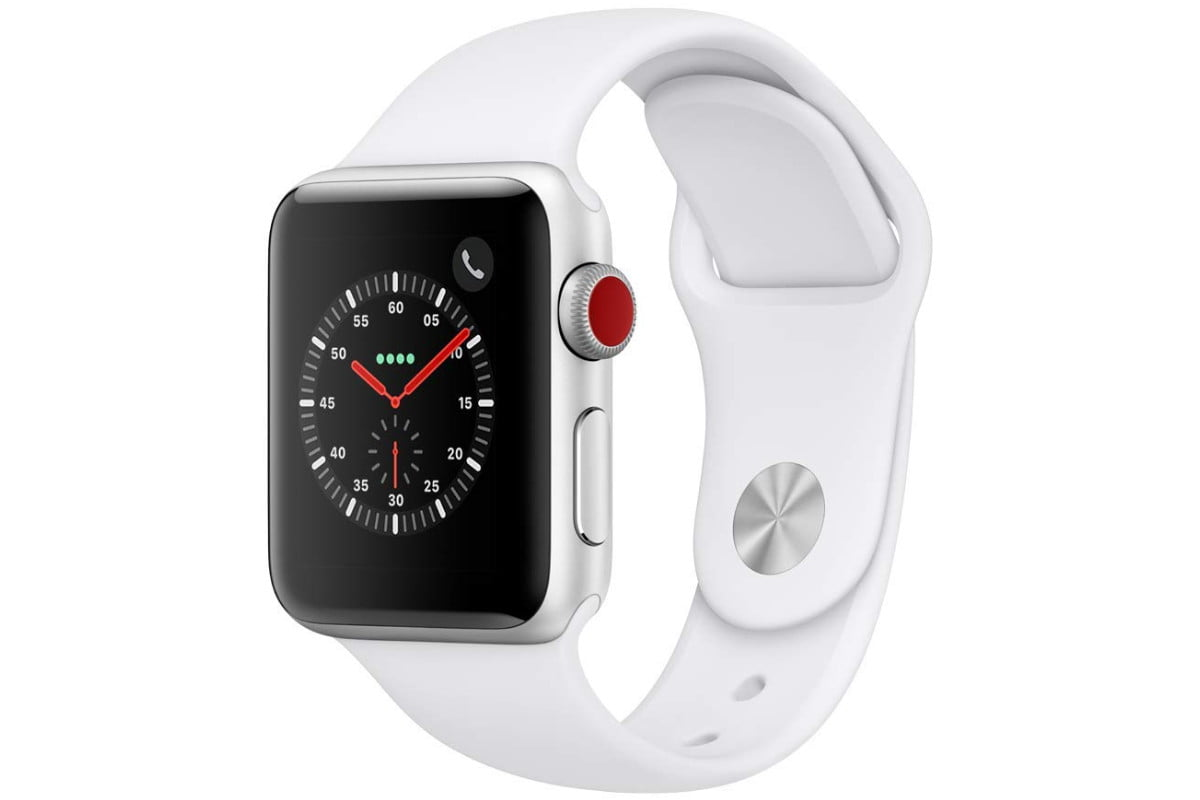 amazon 4th of july sale apple watch series 3  gps cellular 38mm silver aluminium case with white sport band 1
