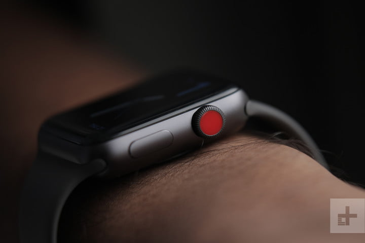 Apple Watch Series 3 from the side.