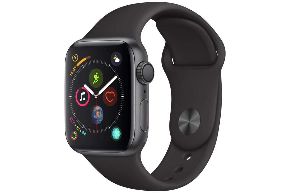 amazon 4th of july sale apple watch series 4  gps 40mm space gray aluminium case with black sport band 1