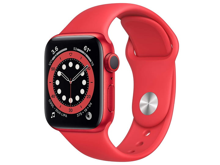 The Product RED version of the Apple Watch Series 6.
