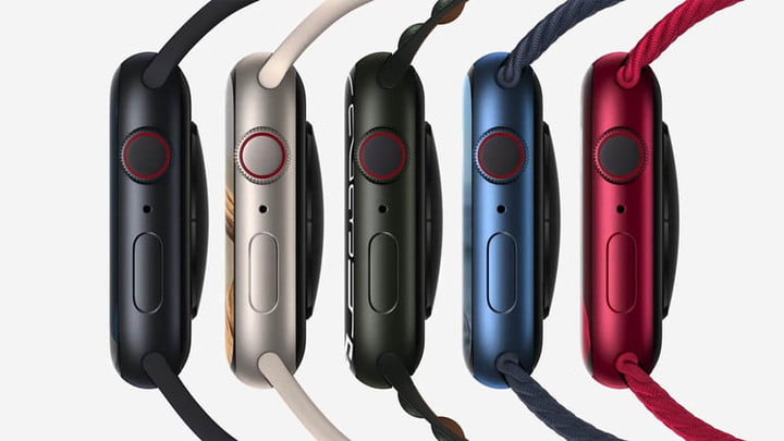 Apple Watch Series 7 from the side.
