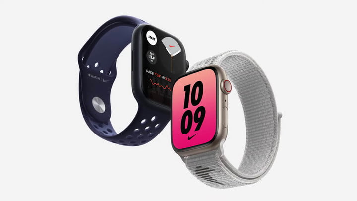 Nike editions of the Apple Watch Series 7.