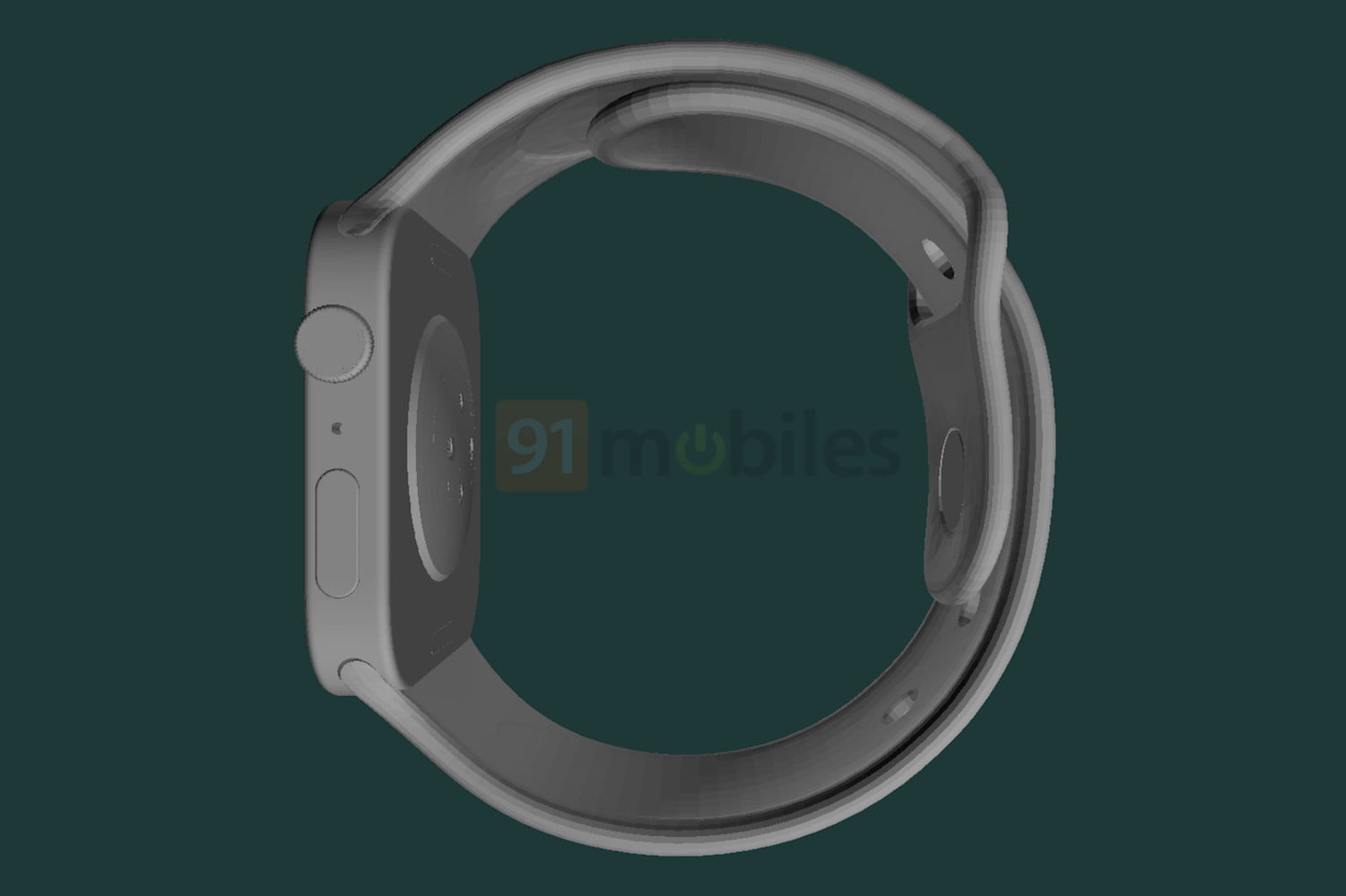 A render of what the Apple Watch Series 7 may look like.