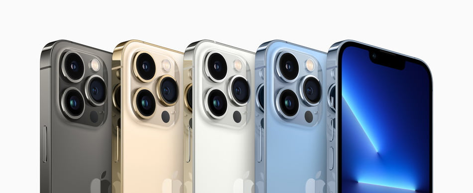 iPhone 13 Pro colors.