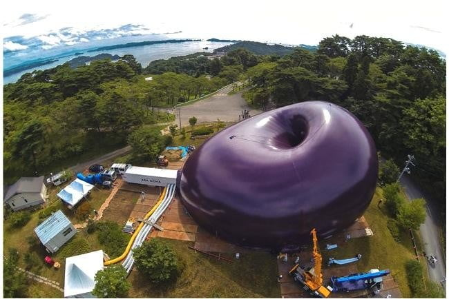 worlds first inflatable concert hall debuts in japans disaster area ark nova 3