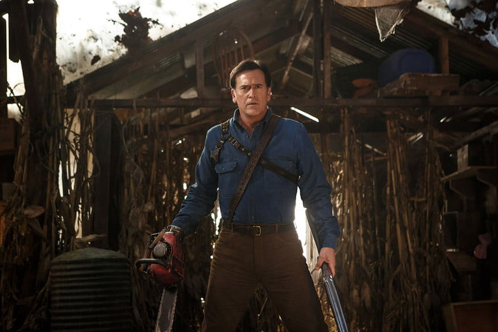 bruce campbell on lee majors and man cleavage in ash vs evil dead  season 2 interview 002