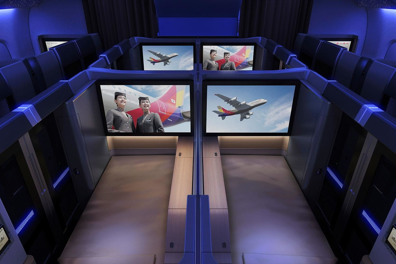 best first class airlines seats asiana suite mood light