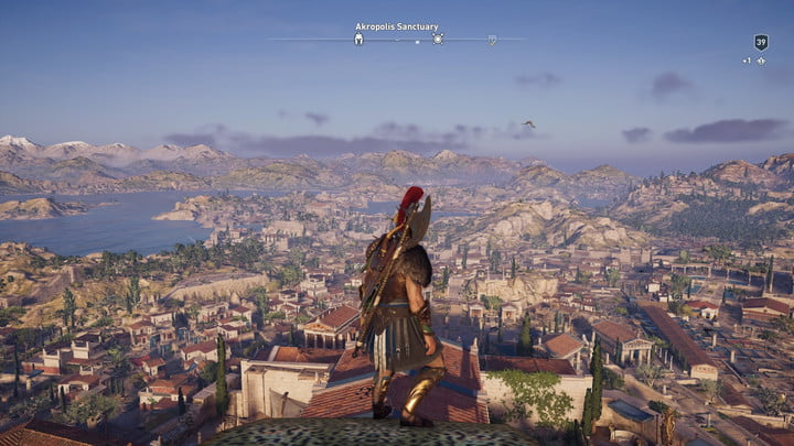 High vantage point view of the city in Assassin's Creed Odyssey.