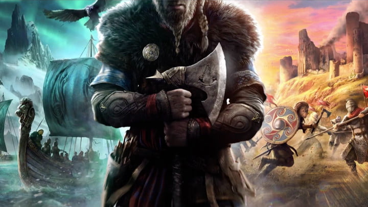 Assassin's Creed Valhalla viking ship and land fighting.