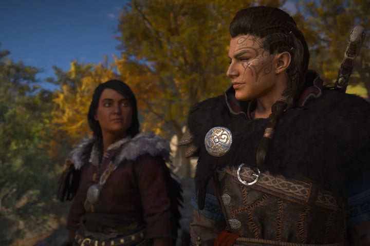 Petra and Eivor from Assassin's Creed Valhalla.