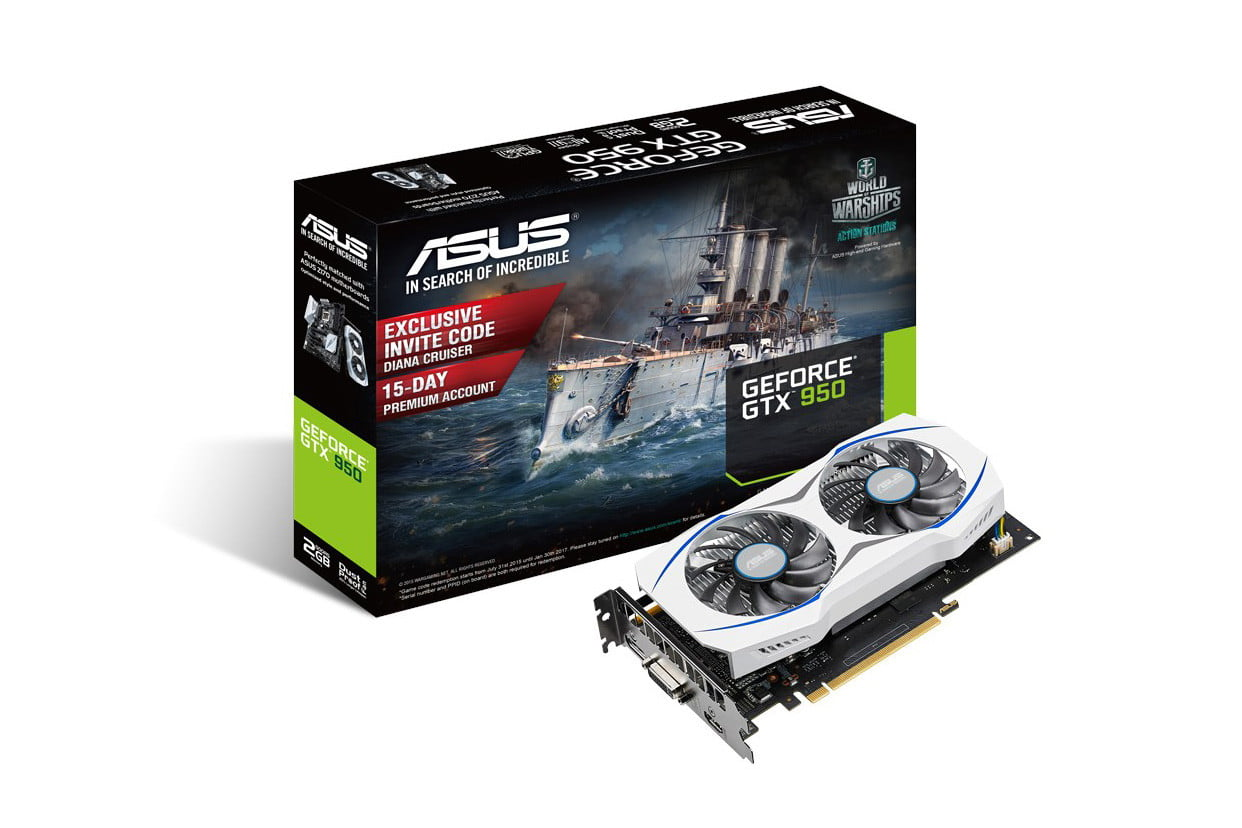 asus geforce gtx 950 gpu negates the need for a power connector 1