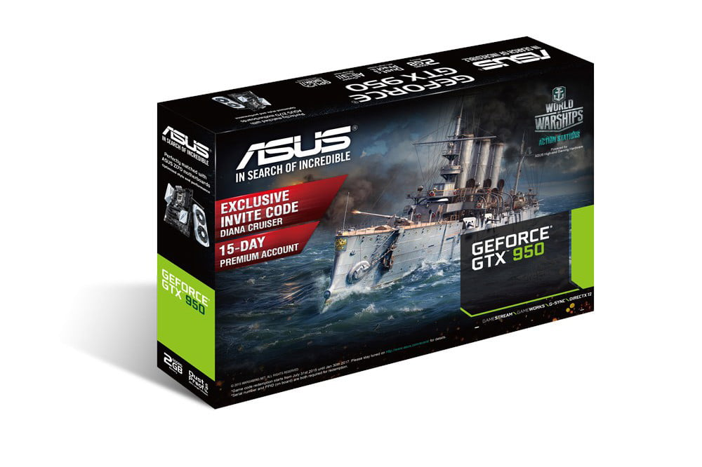 asus geforce gtx 950 gpu negates the need for a power connector 3