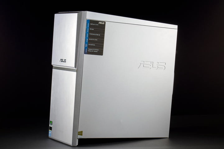 ASUS M70AD US003S review desktop front angle