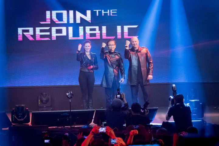 asus prototype computex rog presents  join the republic press event at 2016 from left to rig