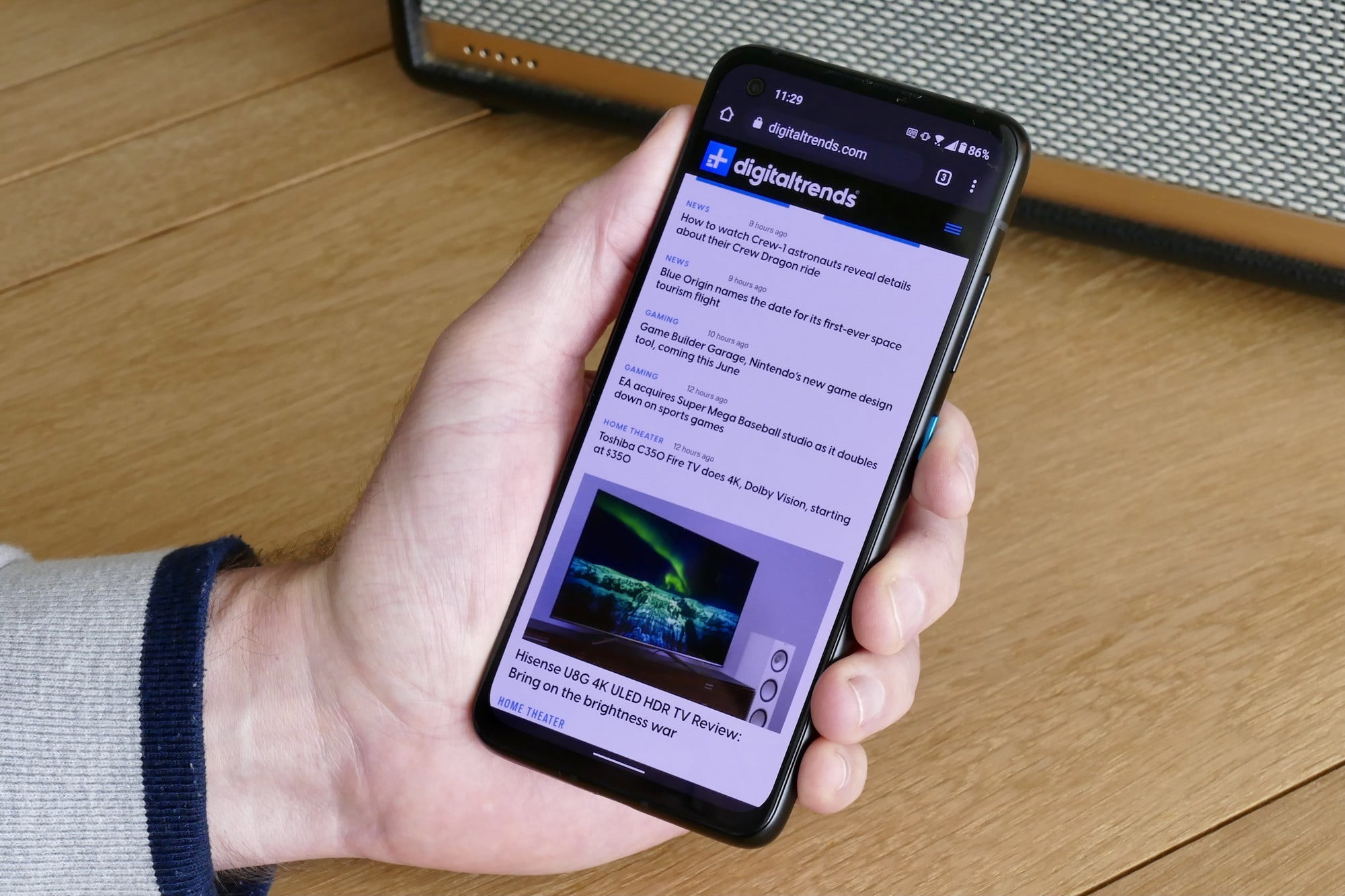 asus zenfone 8 review browser